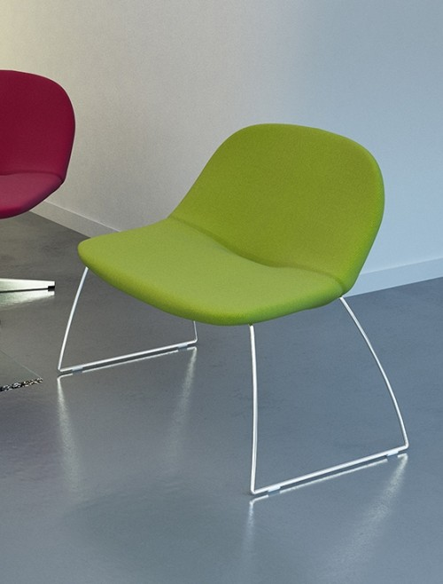 Soft Seating - Dams Medley Lounge Chairs MED01 Skid Base