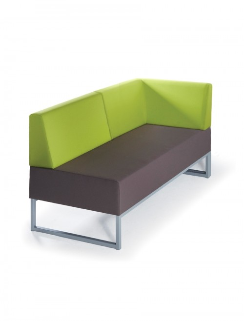 Modular Soft Seating - Dams Nera Double Bench with Back and Left Arm NERA-D-BBLA