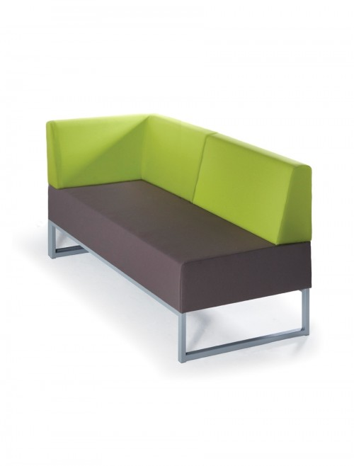 Modular Soft Seating - Dams Nera Double Bench with Back and Right Arm NERA-D-BBRA