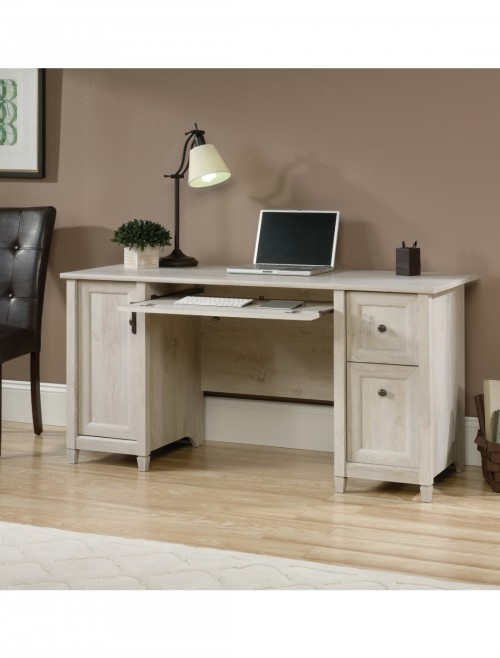 Home Office Desks - Teknik Chalked Wood Computer Desk 5418793