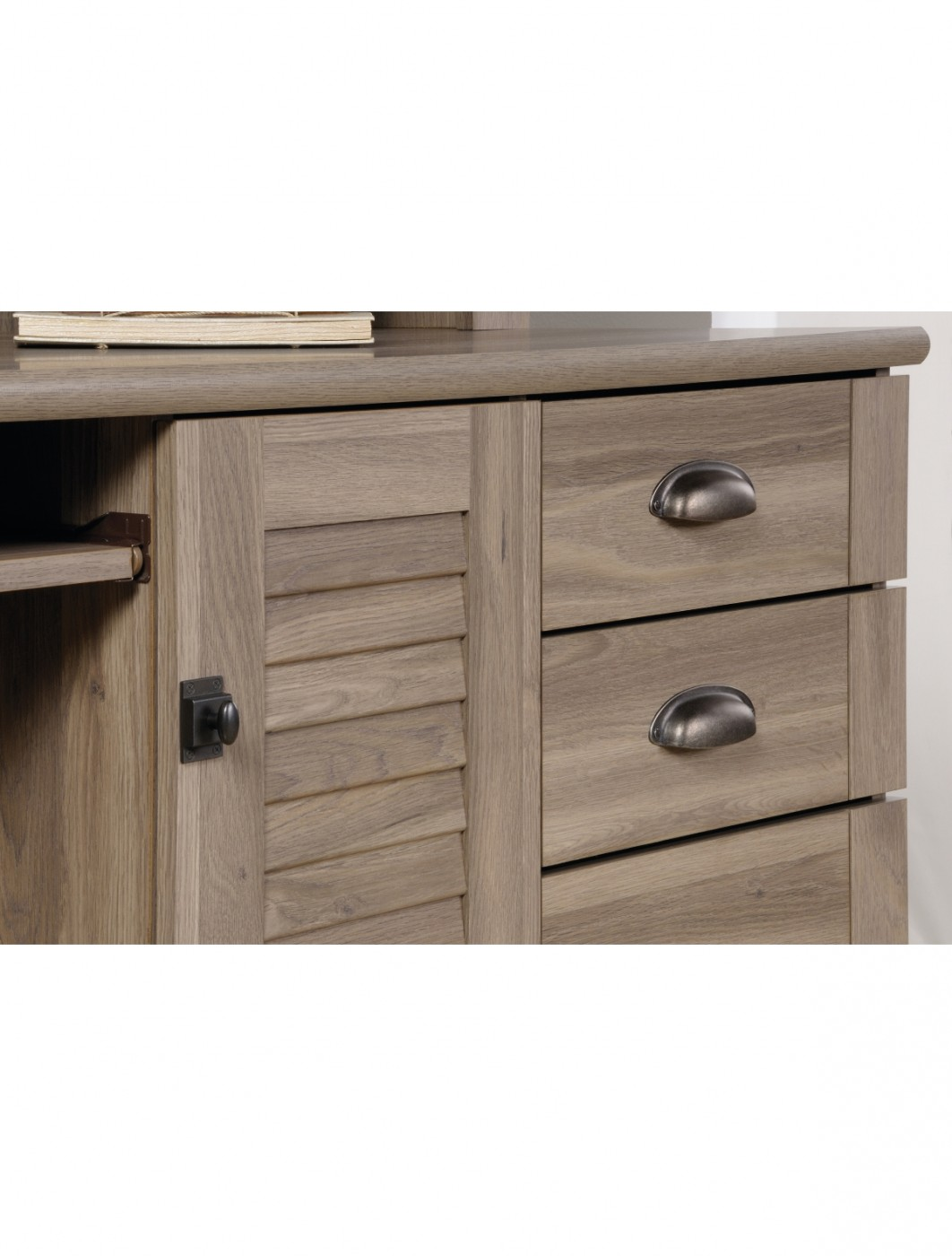 home office desk with drawers. Home Office Desks - Teknik Louvre Hutch Desk 5415109 Enlarged View With Drawers C