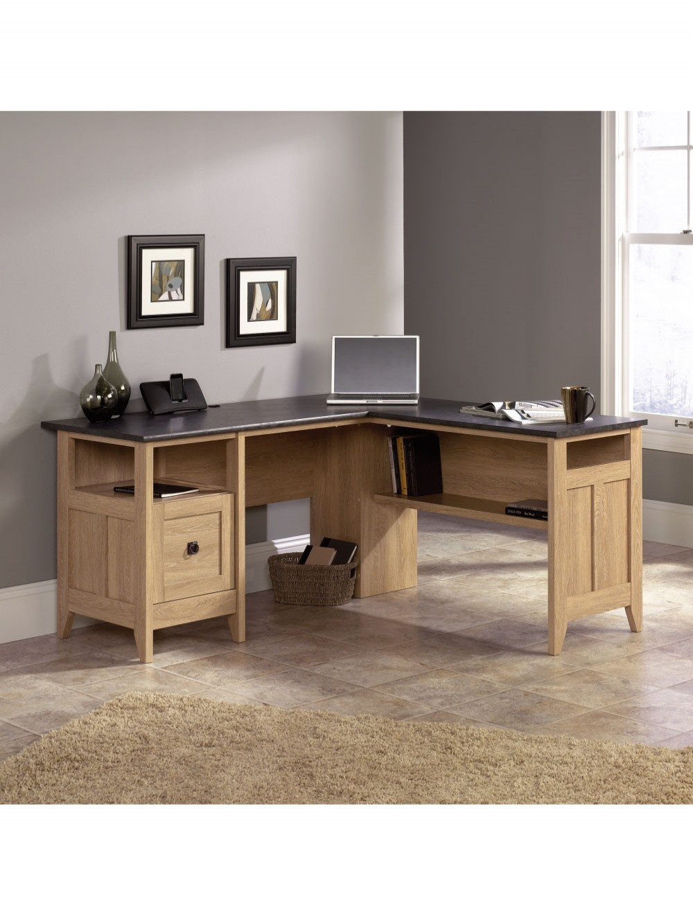 Home office desks teknik l shaped study desk 5412320 enlarged view