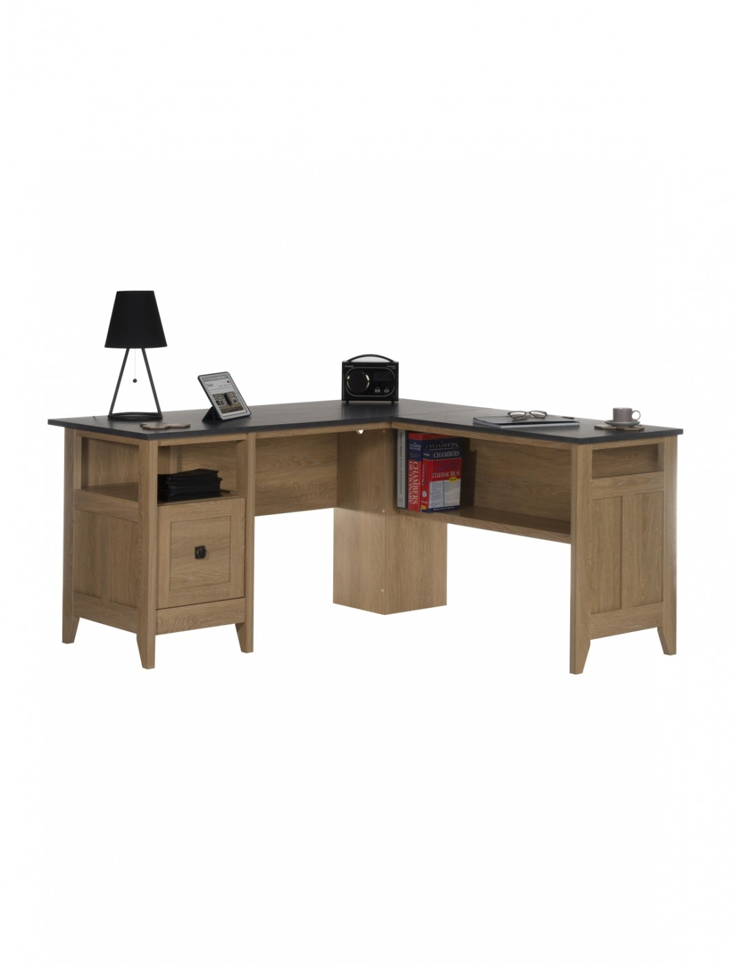 Home Office Desks - Teknik L-Shaped Study Desk 5412320 | 121 Office ...