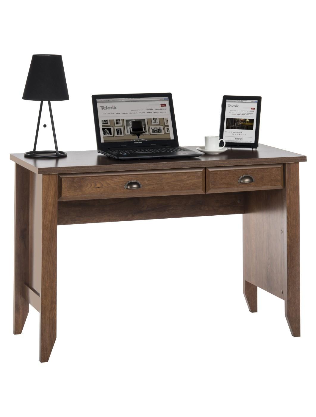 Home Office Furniture Uk Desk Set 18: Teknik Laptop Desk Oiled Oak 5410416