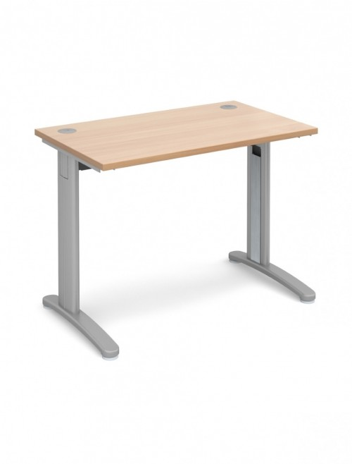 Beech Office Desk 1000x600mm Dams TR10 Desk T610B