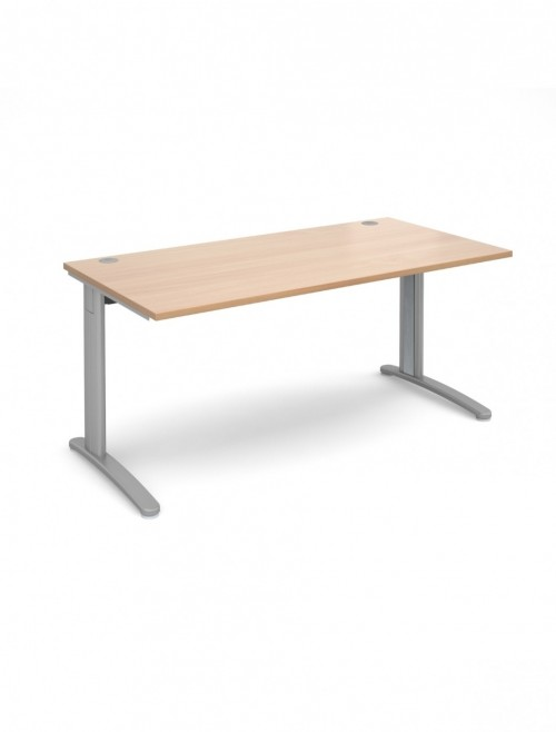 Beech Office Desk 1600x800mm Dams TR10 Desk T16B