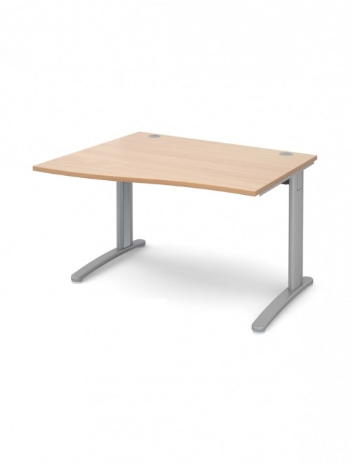 Beech Office Desk 1200mm Dams TR10 Left Hand Wave Desk TWL12B