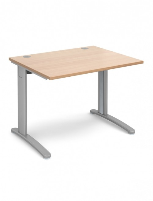 Beech Office Desk 1000x800mm Dams TR10 Desk T10B