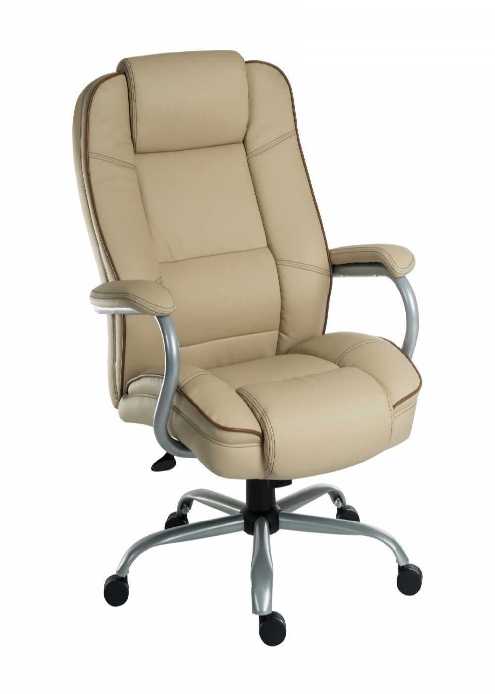 Teknik goliath duo heavy duty office chair 6925cr 121 for Cream office chair