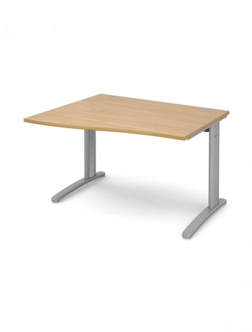 Oak Office Desk 1200mm Dams TR10 Left Hand Wave Desk TWL12O