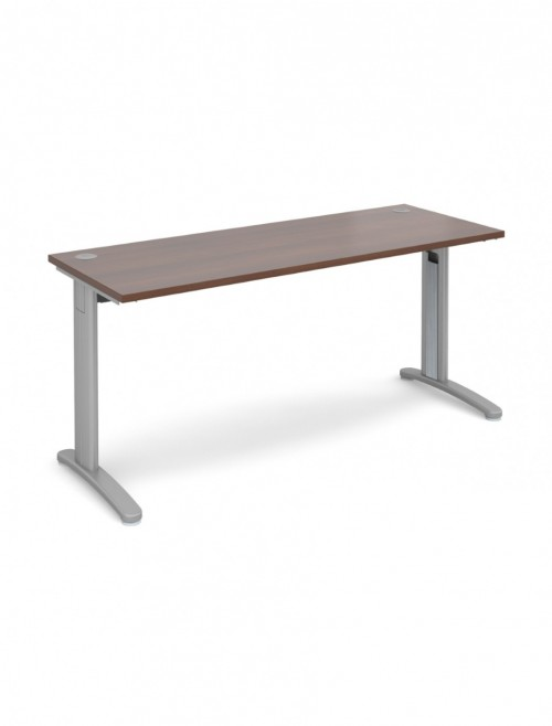 Walnut Office Desk 1600x600mm Dams TR10 Desk T616W