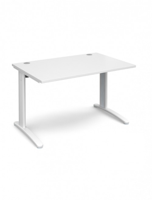 White Office Desk 1200x800mm Dams TR10 Desk T12WH