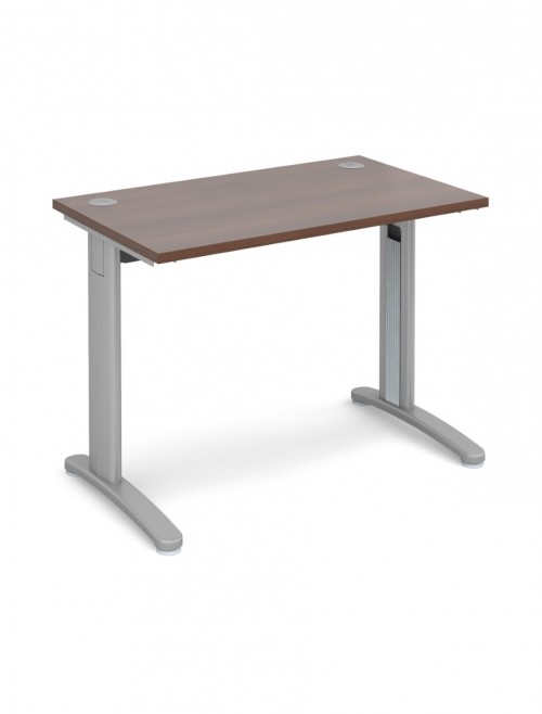Walnut Office Desk 1000x600mm Dams TR10 Desk T610W