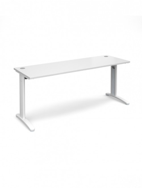 White Office Desk 1800x600mm Dams TR10 Desk T618WH
