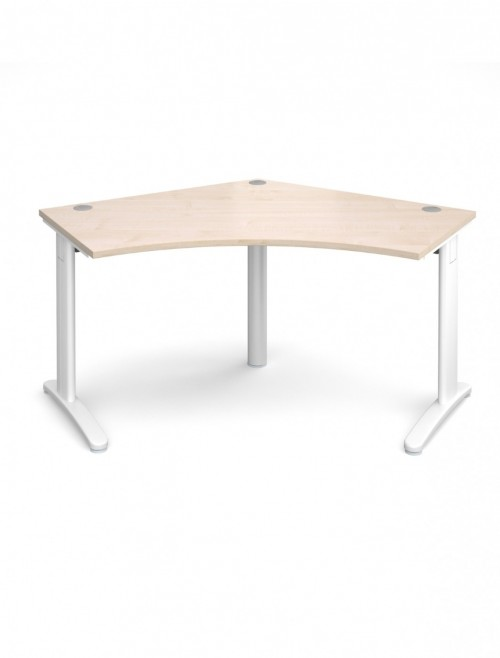 Maple Office Desk Dams TR10 120 Degree Desk T120M