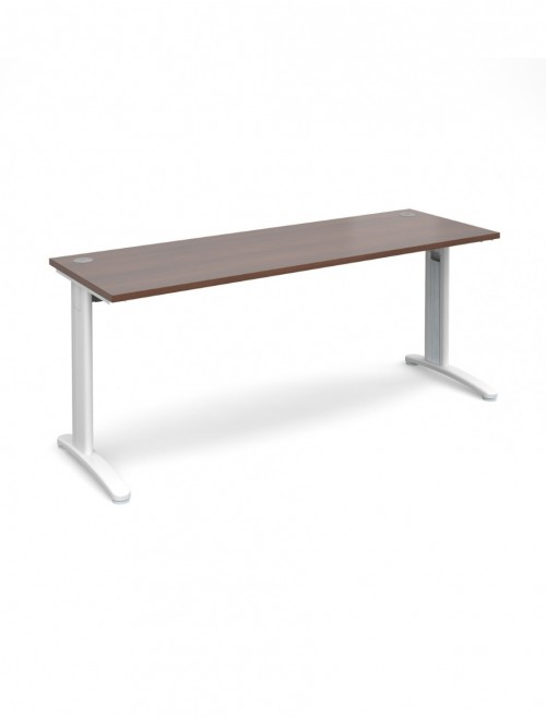 Walnut Office Desk 1800x600mm Dams TR10 Desk T618W