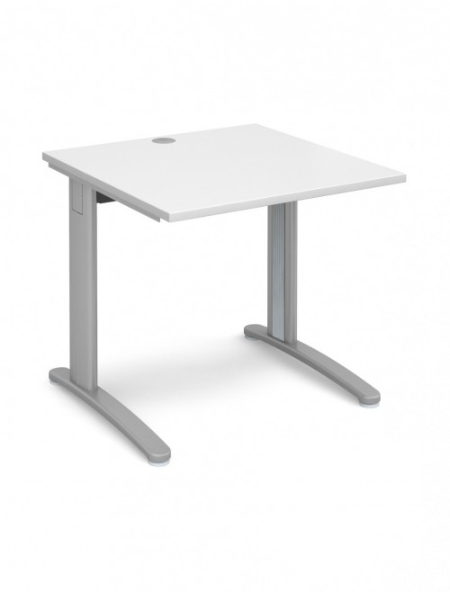 White Office Desk 800x800mm Dams TR10 Desk T8WH