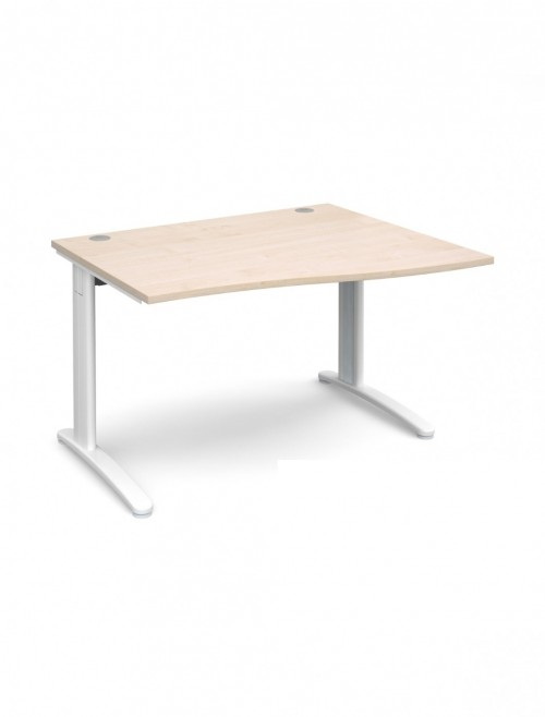 Maple Office Desk 1200mm Dams TR10 Right Hand Wave Desk TWR12M