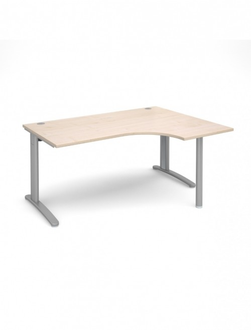 Maple Office Desk 1600mm Wide Dams TR10 Right Hand Ergonomic TBER16M