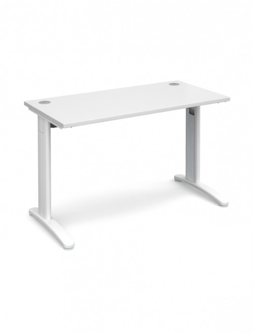 White Office Desk 1200x600mm Dams TR10 Desk T612WH
