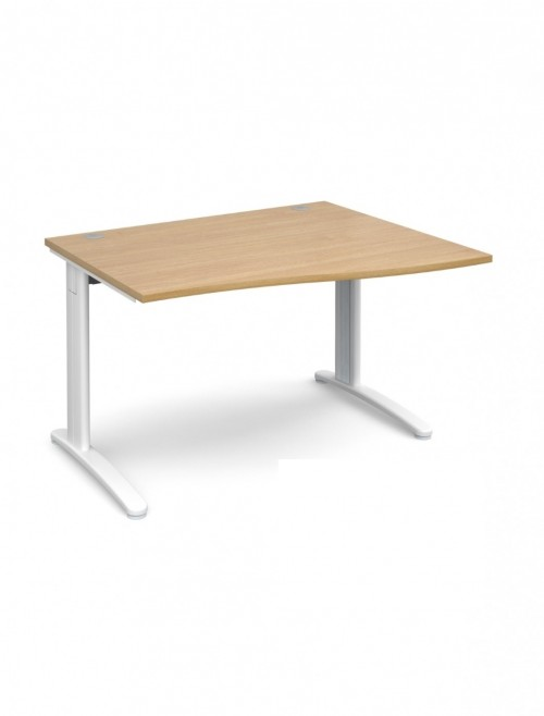 Oak Office Desk 1200mm Dams TR10 Right Hand Wave Desk TWR12O