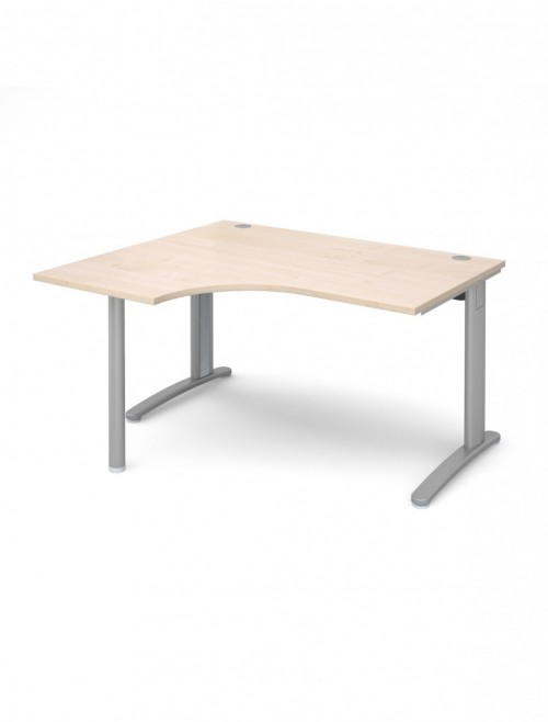 Maple Office Desk 1400mm Wide Dams TR10 Left Hand Ergonomic TBEL14M