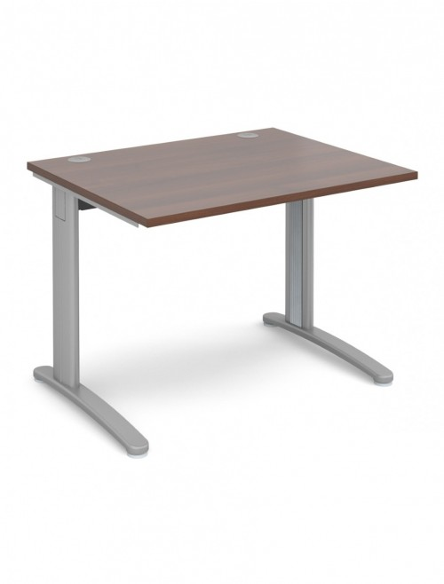 Walnut Office Desk 1000x800mm Dams TR10 Desk T10W