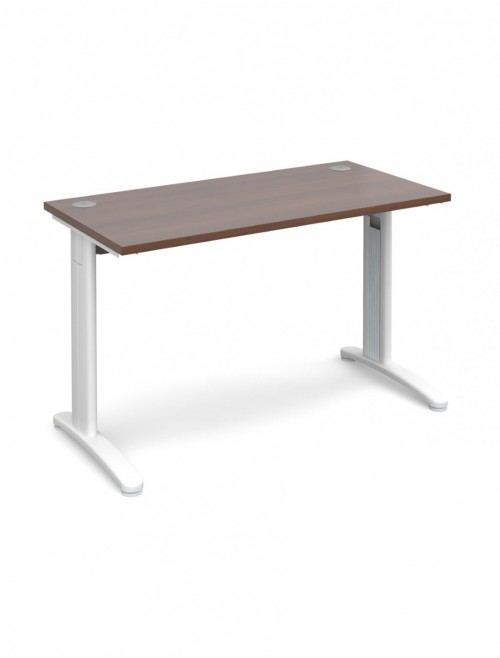Walnut Office Desk 1200x600mm Dams TR10 Desk T612W