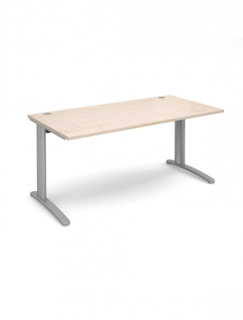 Maple Office Desk 1600x800mm Dams TR10 Desk T16M