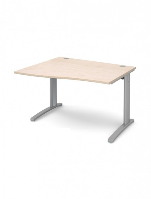 Maple Office Desk 1200mm Dams TR10 Left Hand Wave Desk TWL12M