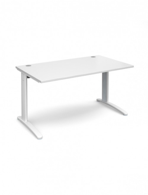 White Office Desk 1400x800mm Dams TR10 Desk T14WH