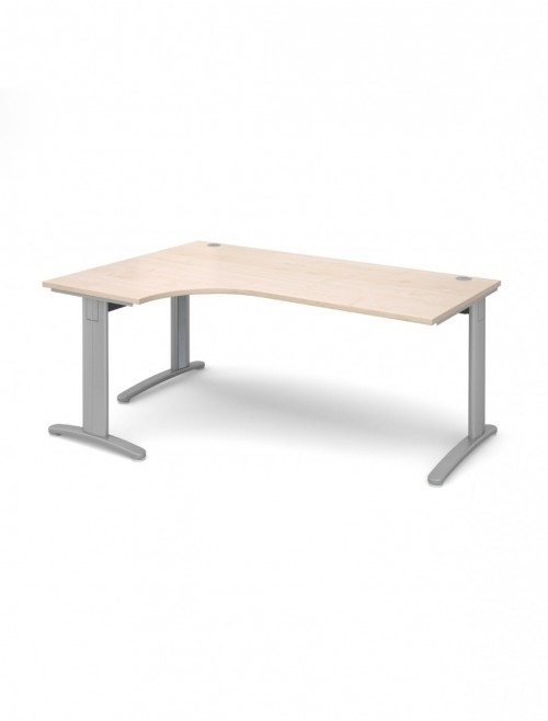 Maple Office Desk 1800mm Dams TR10 Left Hand Ergonomic Deluxe TDEL18M