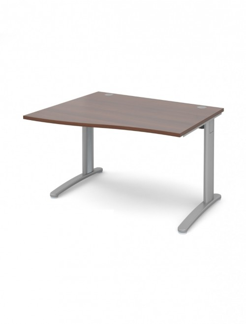 Walnut Office Desk 1200mm Dams TR10 Left Hand Wave Desk TWL12W