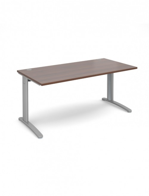 Walnut Office Desk 1600x800mm Dams TR10 Desk T16W