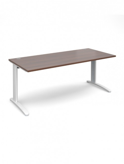 Walnut Office Desk 1800x800mm Dams TR10 Desk T18W