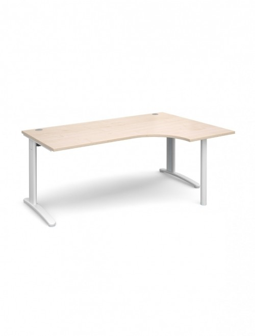Maple Office Desk 1800mm Wide Dams TR10 Right Hand Ergonomic TBER18M