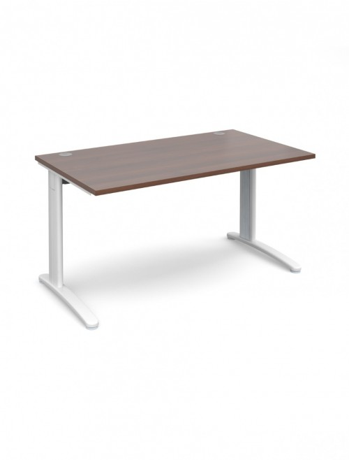 Walnut Office Desk 1400x800mm Dams TR10 Desk T14W