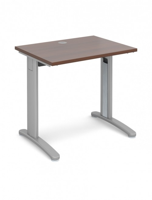 Walnut Office Desk 800x600mm Dams TR10 Desk T608W
