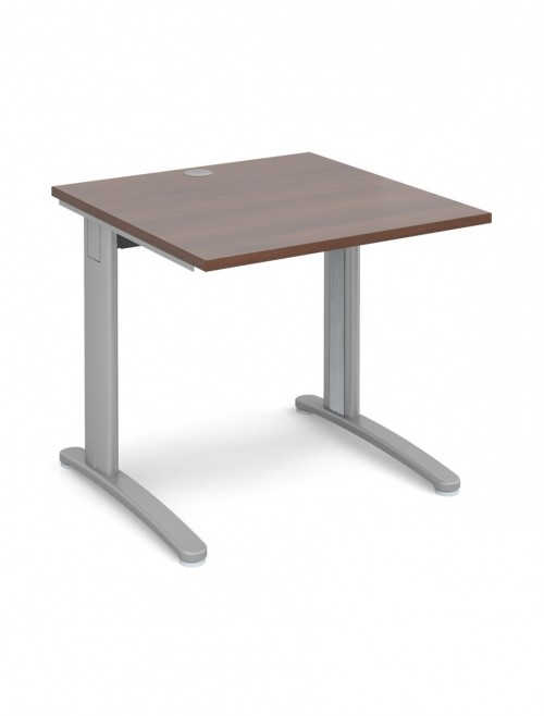 Walnut Office Desk 800x800mm Dams TR10 Desk T8W