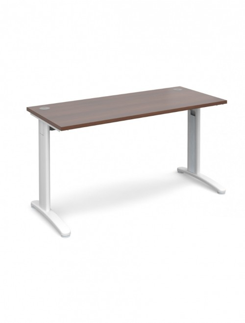 Walnut Office Desk 1400x600mm Dams TR10 Desk T614W
