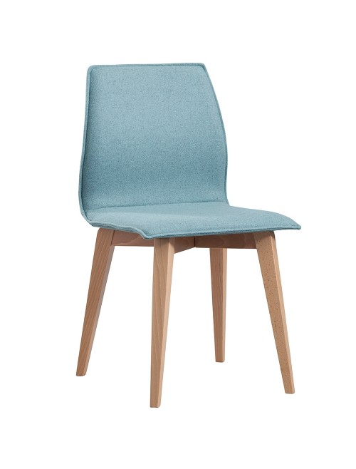 Social Seating - Dams Drop Upholstered Wooden Dining Chair DROP-F