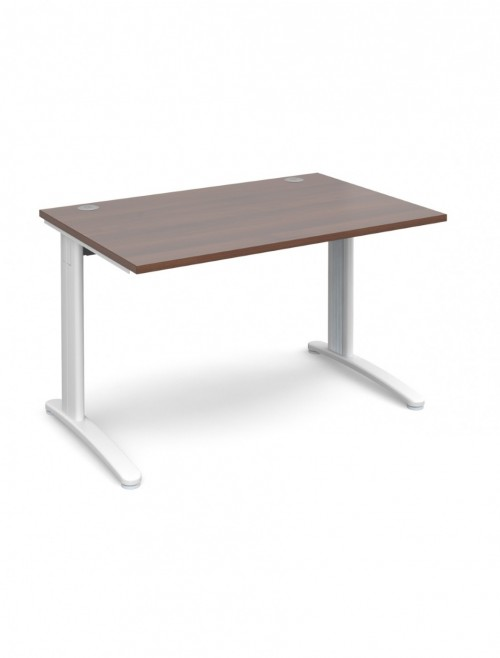 Walnut Office Desk 1200x800mm Dams TR10 Desk T12W