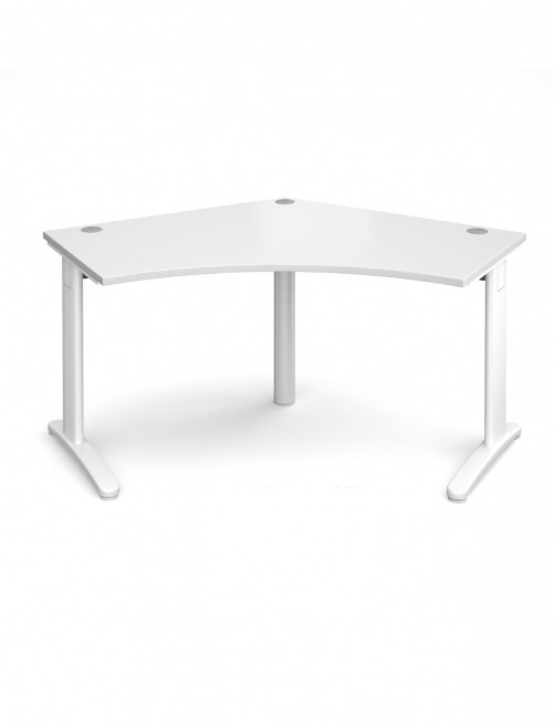 White Office Desk Dams TR10 120 Degree Desk T120WH