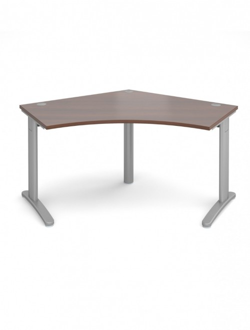 Walnut Office Desk Dams TR10 120 Degree Desk T120W