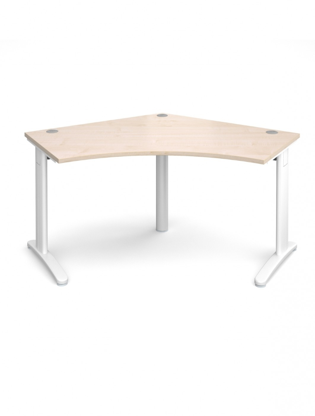 Maple Office Desk Dams TR10 120 Degree Desk T120M   Enlarged View