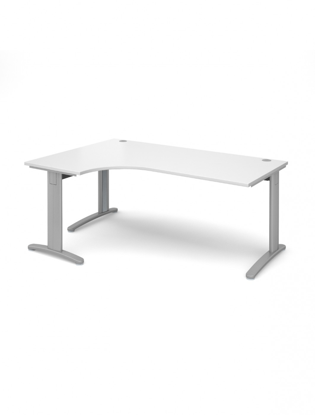 Peachy White Office Desk 1800Mm Dams Tr10 Left Hand Ergo Deluxe Tdel18Wh Home Interior And Landscaping Pimpapssignezvosmurscom