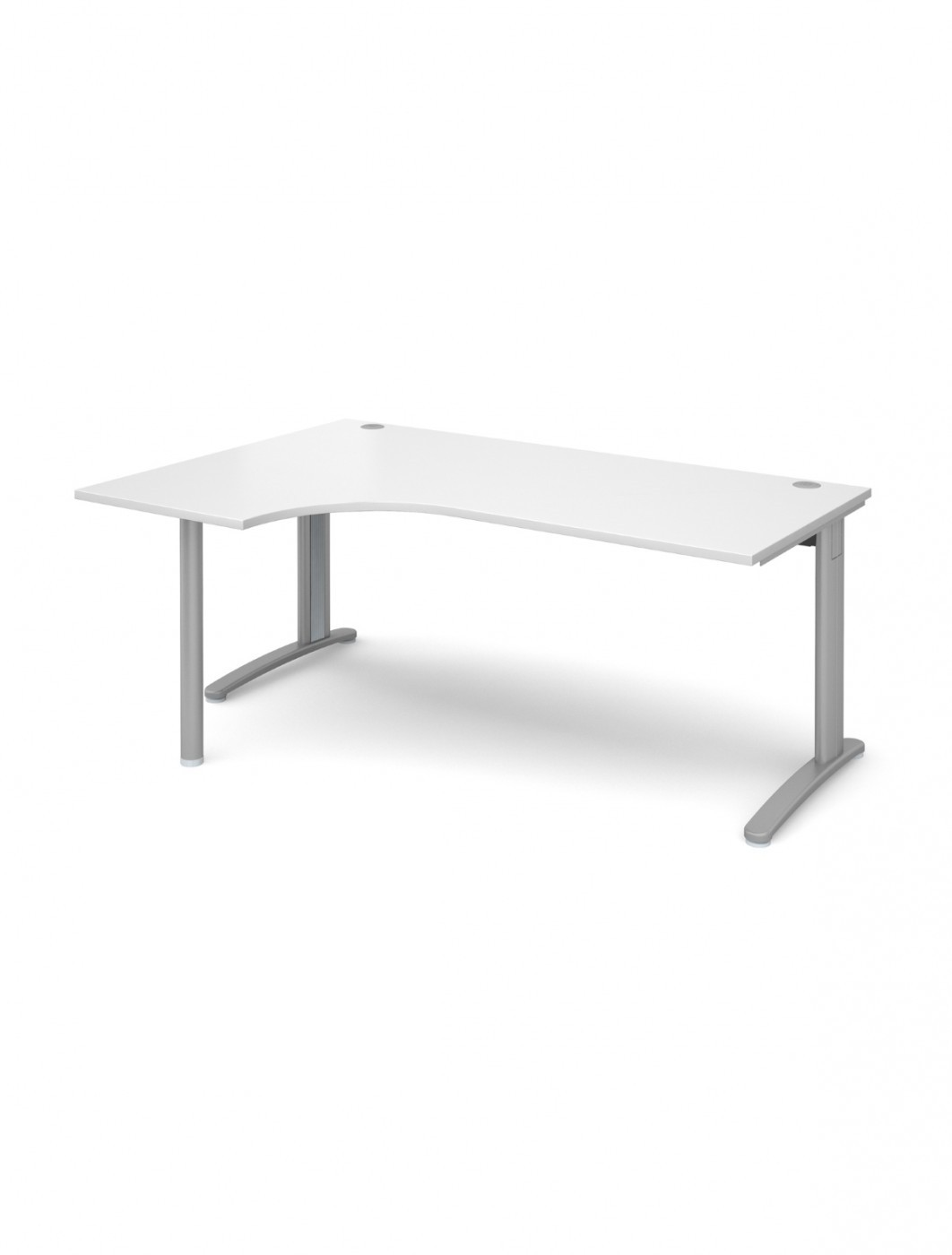 White Office Desk 1800mm Wide Dams TR10 Left Hand Ergonomic TBEL18WH