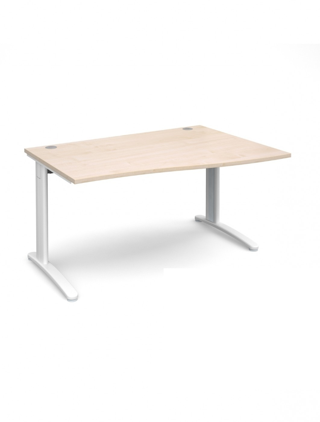 Maple Office Desk 1400mm Dams TR10 Right Hand Wave Desk TWR14M