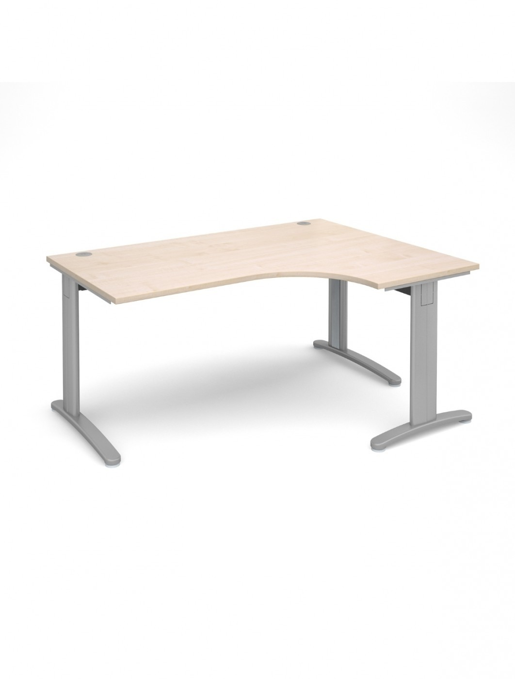 Maple Office Desk 1600mm Dams TR10 Right Hand Ergonomic Deluxe TDER16M