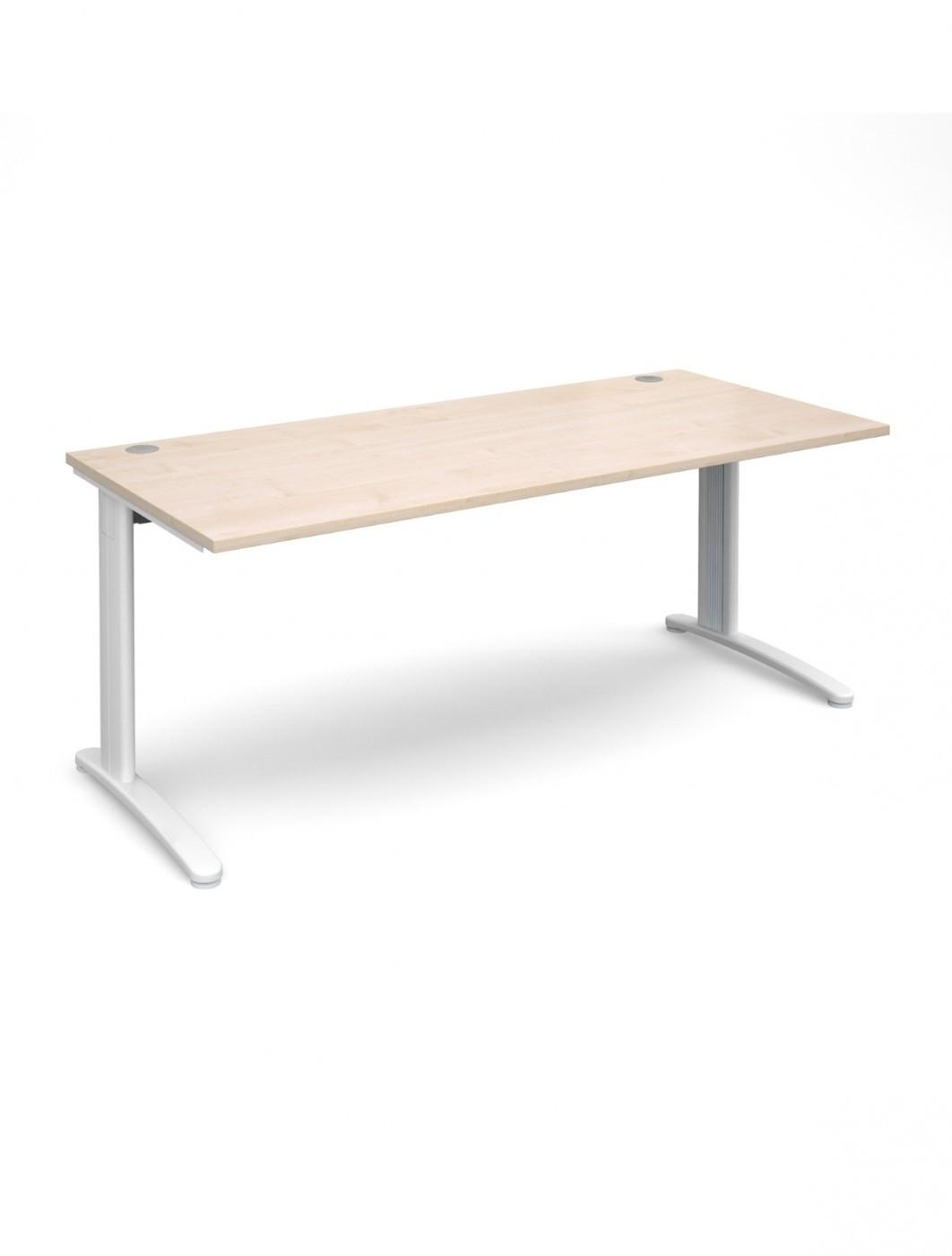 Home Office Furniture Uk Desk Set 18: Maple Office Desk 1800x800mm Dams TR10 Desk T18M